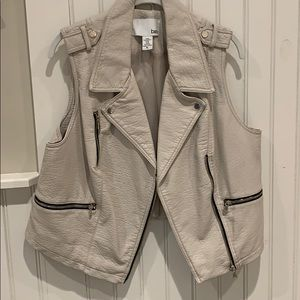 BarIII faux leather vest
